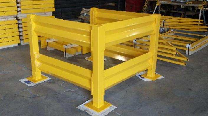 Guard rail panel built inc for Mezzanine guard rail