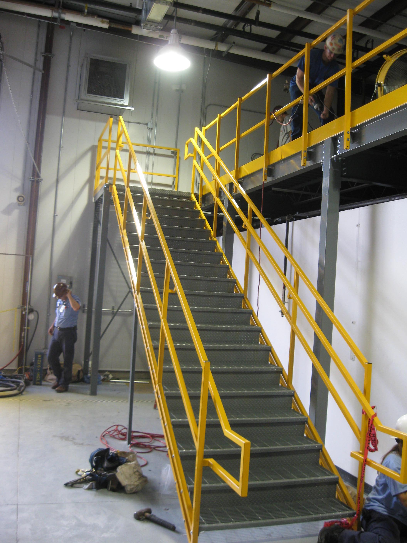 Safety Rails For Mezzanine : The complete mezzanine solution « panel built inc